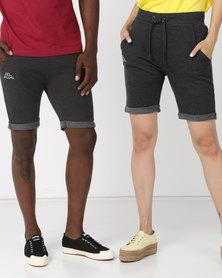 Kappa Unisex Logo Zibu Shorts Grey Dark Melange