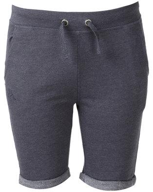 Kappa Unisex Logo Zibo Shorts Blue/Navy Melange