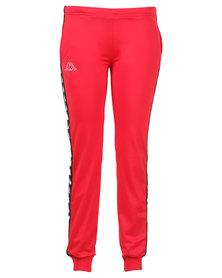 Kappa 222 Banda Wrastoria SF Pants Red/Black