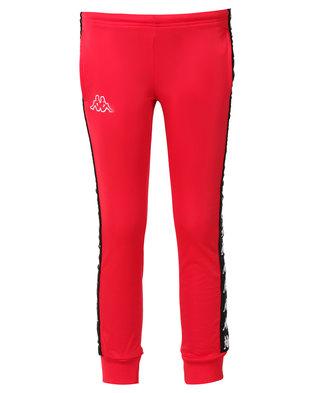 Kappa 222 Banda Wrastoria SF Pants Red/Black