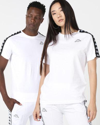 buy popular baa1d e1e1c Kappa Unisex 222 Banda Coen Slim T-Shirt White/Block