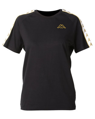 Kappa Unisex 222 Banda Coen Slim T-Shirt Black/Gold