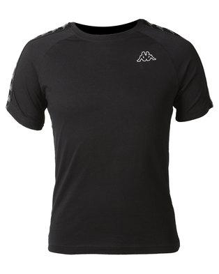 Kappa Unisex 222 Banda Coen Slim T-Shirt Black/Grey