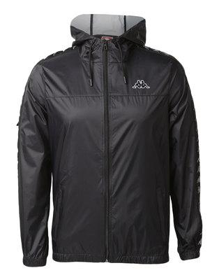 Kappa Unisex 222 Banda Dawson Jacket Black/Grey