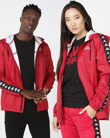 a4511b76c4 Kappa Unisex 222 Banda Dawson Jacket Dark Red/Black