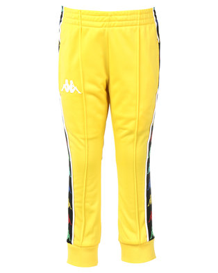 Kappa Banda Rastoria Pants Yellow Lemon/White