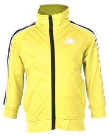 Kappa Banda Anniston Y Jacket Yellow Lemon/White