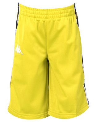 Kappa Banda Kidwell Shorts Yellow Lemon/White