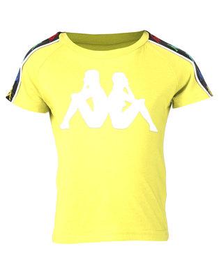 Kappa Banda Coen T-Shirt Yellow/White