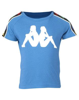 Kappa Banda Coen Y T-Shirt Blue/White