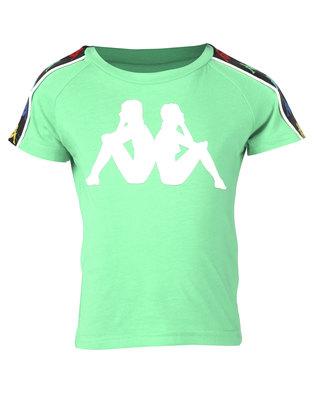 Kappa Banda Coen T-Shirt Green/White