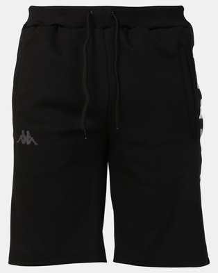 Kappa Unisex Berdi Slim Fit Shorts Black