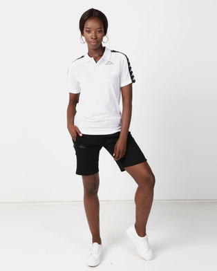 Kappa Unisex Banda Estrel Polo White/Black