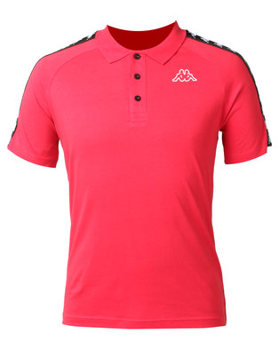 Kappa Unisex Banda Estrel Polo Dark Red/Black