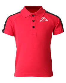 Kappa Banda Estrel Polo Dark Red/Black