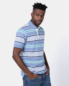 JCrew Blue Grey Stripe Golfer Multi