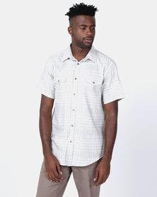 JCrew Short Sleeve Check Shirt Beige
