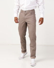 JCrew 5 Pocket Twill Pants Taupe