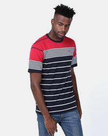 JCrew Stripe Crew Neck Tee Multi