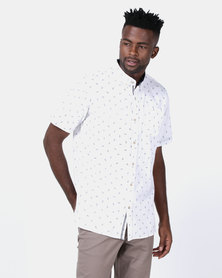 JCrew Pine Apple Design Printed Shirt White