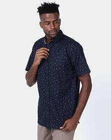 JCrew Anchor Printed Designer Shirt Navy