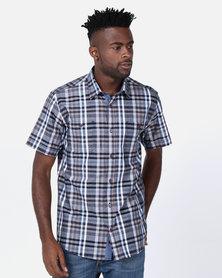 JCrew Short Sleeve Check Shirt Blue
