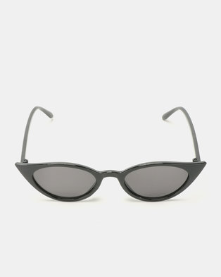 Utopia Cat Eye Sunglasses Black