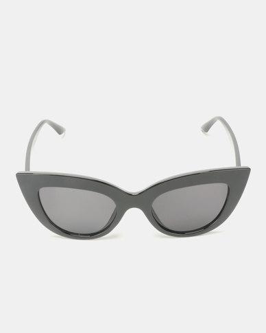 Utopia Bold Cat Eye Sunglasses Black