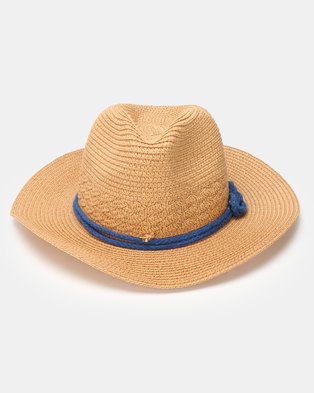 Utopia Knotted Straw Hat Tan