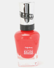 Sally Hansen Salon Manicure Nail Polish 550 All Fired Up Red