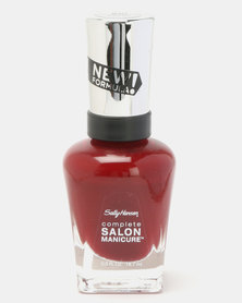 Sally Hansen Salon Manicure Nail Polish 610 Red Zen Red