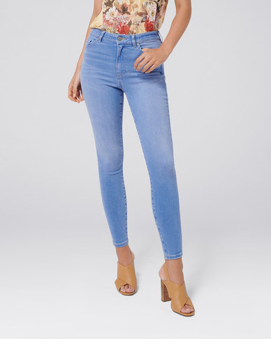 Forever New Kaia High Rise Crop Jean Amethyst