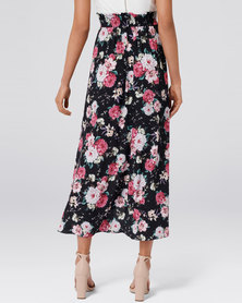 Forever New Allie Wrap Maxi Skirt Peony Blossom