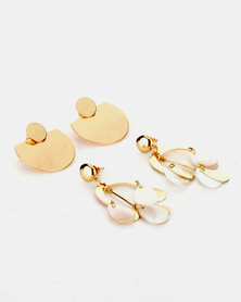 Legit 2 Pack Earrings Gold