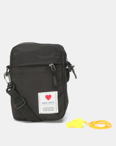 Utopia Nylon Crossbody Bag Black