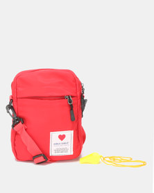 Utopia Nylon Crossbody Bag Red