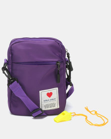 Utopia Nylon Crossbody Bag Purple