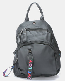 Utopia Nylon Backpack Black