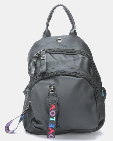 Utopia Nylon Backpack Black
