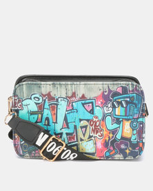 Utopia Printed Crossbody Bag Black Print