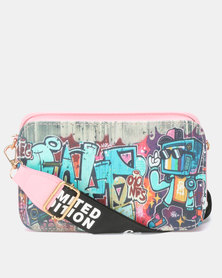Utopia Printed Crossbody Bag Pink Print