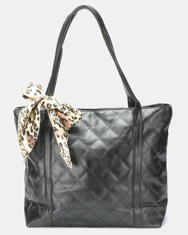 Utopia Quilt Shopper Bag Black