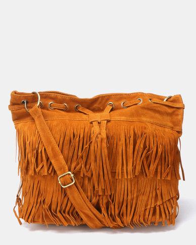 Utopia Tassel Bag Tan