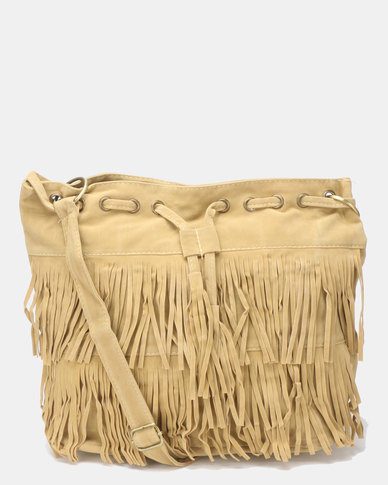 Utopia Tassel Bag Taupe