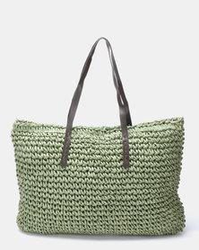 Utopia Woven Shopper Green