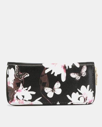 Utopia Floral Purse Black