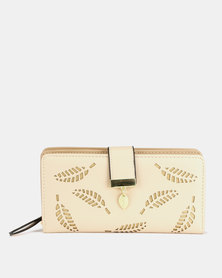 Utopia Lasered Leaf Purse Neutrals