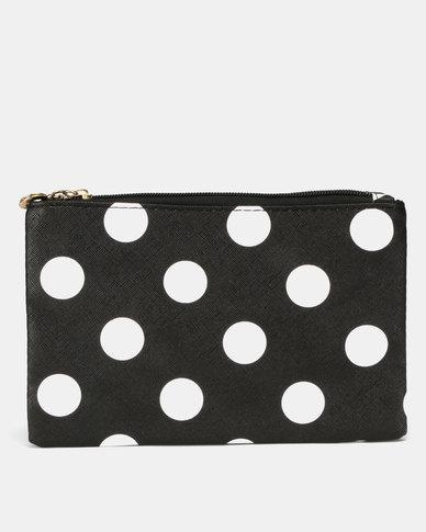 Utopia Polka Double Zip Cosmetic Bag Multi