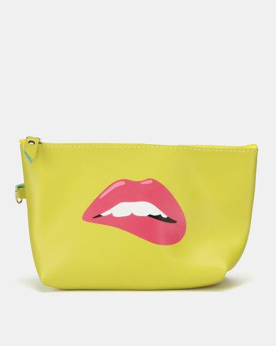 Utopia Funky Printed Cosmetic Bag Yellow