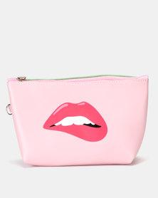 Utopia Funky Printed Cosmetic Bag Pink